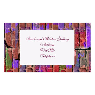 Colored Brick and Mortar 2 Pack Of Standard Business Cards
