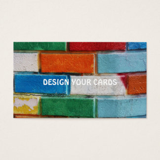 COLORED BRICKS BUSINESS CARDS