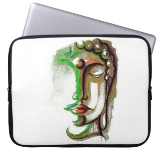 COLORED BUDDHA FACE Neoprene Laptop Sleeve 15 inch