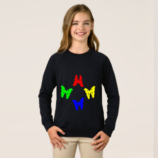 Colored Butterflies Sweatshirt