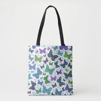 Colored Butterflies Tote Bag