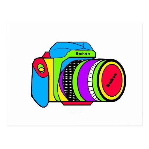 Colored Camera Postcards