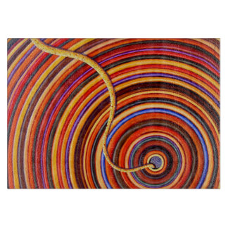 Colored Carrot Rings Cutting Board