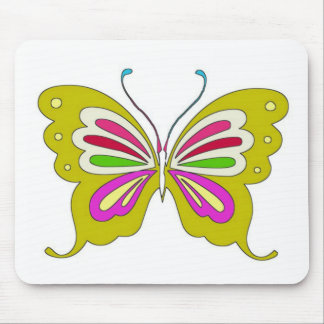 Colored Cartoon Butterfly Mouse Pad