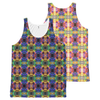 Colored Circles All-Over Print Singlet