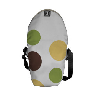 Colored Circles Courier Bag
