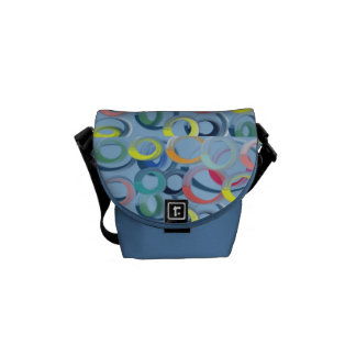 Colored Circles Courier Bags