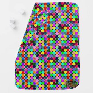 Colored Circles Decorative Baby Blanket