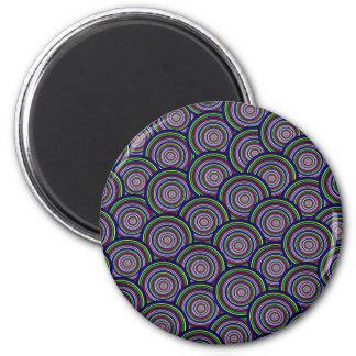 Colored Circles in Circles Fridge Magnet