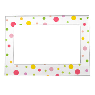 Colored Circles Magnetic Picture Frame