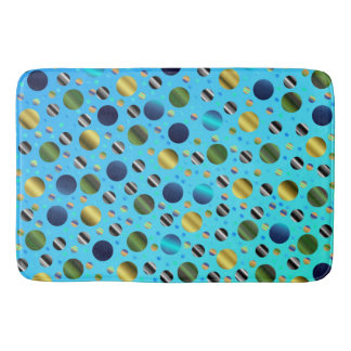 colored colorful little dots digitally superimpose bath mats