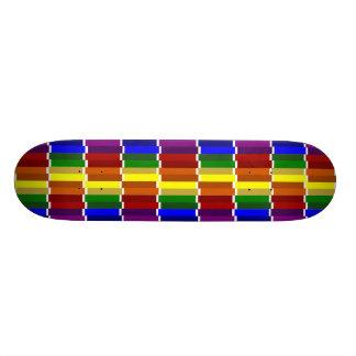 Colored Columns Gone Crazy 21.3 Cm Mini Skateboard Deck