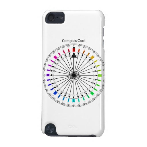 Colored Compass Navigational Instrument iPod Touch (5th Generation) Cases