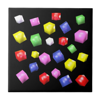 Colored cubes 3d rendered small square tile