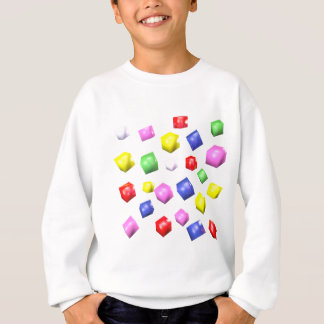 Colored cubes 3d rendered sweatshirt