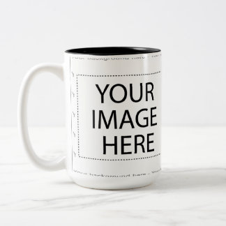 Colored cup of group in white doubles coffee mug