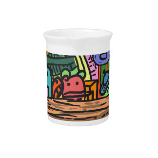 Colored Doodle Pitcher