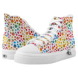 Colored Dots Sport Shoes Printed Shoes