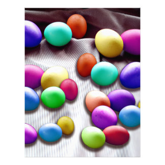 Colored Easter Egg Fun 21.5 Cm X 28 Cm Flyer