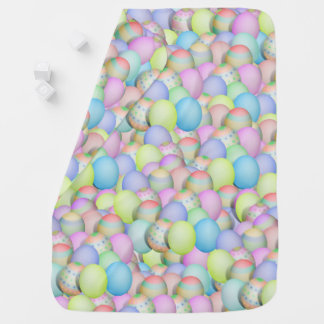Colored Easter Eggs Background Baby Blanket