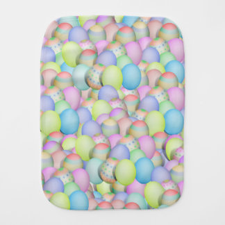 Colored Easter Eggs Background Burp Cloth