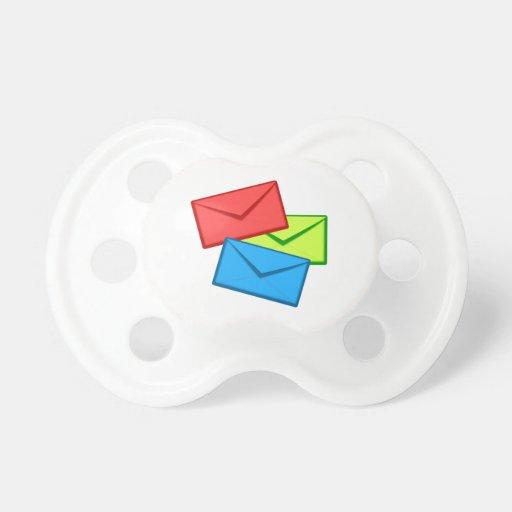 Colored Envelopes Pacifier