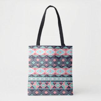 Colored ethnic tote bag
