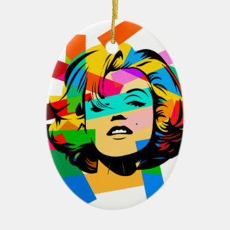 Colored Face Ceramic Ornament