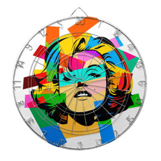 Colored Face Dartboard