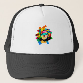 Colored Face Trucker Hat