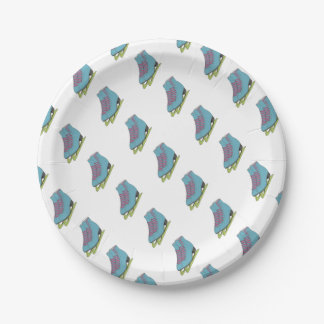 Colored Figure Skates Birthday Party Supplies 7 Inch Paper Plate