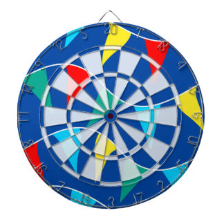 Colored flags dartboard