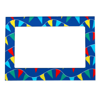 Colored flags magnetic picture frame