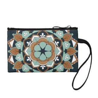 Colored Floral Mandala  060517_1 Coin Purse