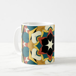 Colored Floral Mandala 060517_4 Coffee Mug