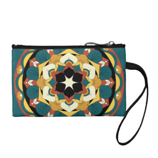 Colored Floral Mandala 060517_4 Coin Purse