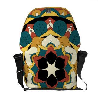 Colored Floral Mandala 060517_4 Commuter Bag