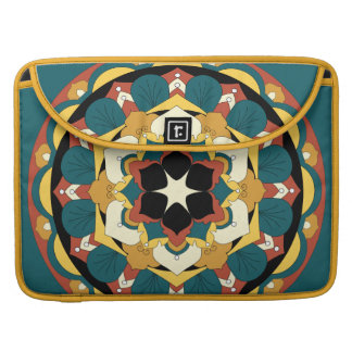 Colored Floral Mandala 060517_4 Sleeve For MacBook Pro