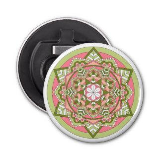 Colored Floral Mandala 061117_1 Bottle Opener
