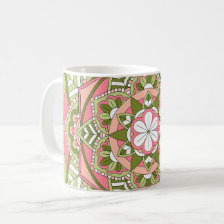 Colored Floral Mandala 061117_1 Coffee Mug