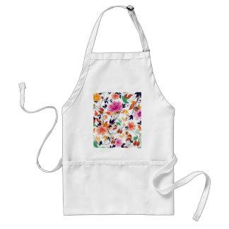 colored floral standard apron