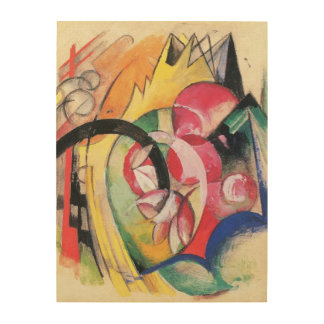 Colored Flowers (aka Abstract Forms) by Franz Marc Wood Prints