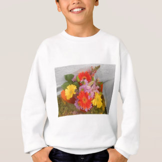 colored flowers sweatshirt