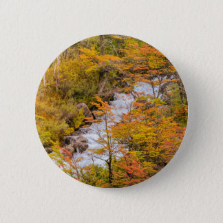 Colored Forest Landscape Scene, Patagonia 6 Cm Round Badge