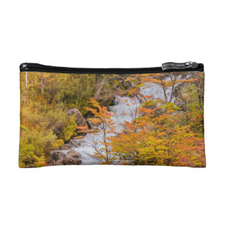 Colored Forest Landscape Scene, Patagonia Cosmetic Bags