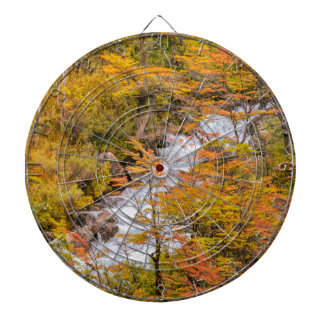 Colored Forest Landscape Scene, Patagonia Dartboard