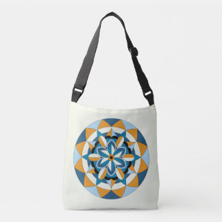 Colored Geometric Floral Mandala 060517_2 Crossbody Bag