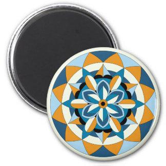 Colored Geometric Floral Mandala 060517_2 Magnet