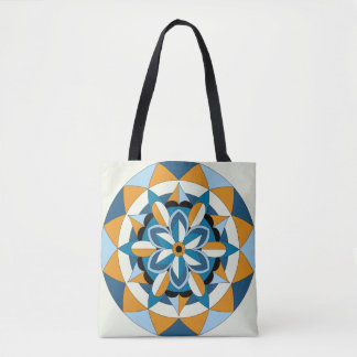 Colored Geometric Floral Mandala 060517_2 Tote Bag