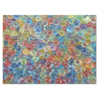 colored glass beads tissue paper